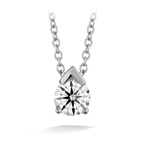 Aerial Single Diamond Pendant