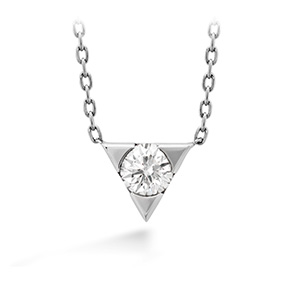 Triplicity Single Diamond Pendant