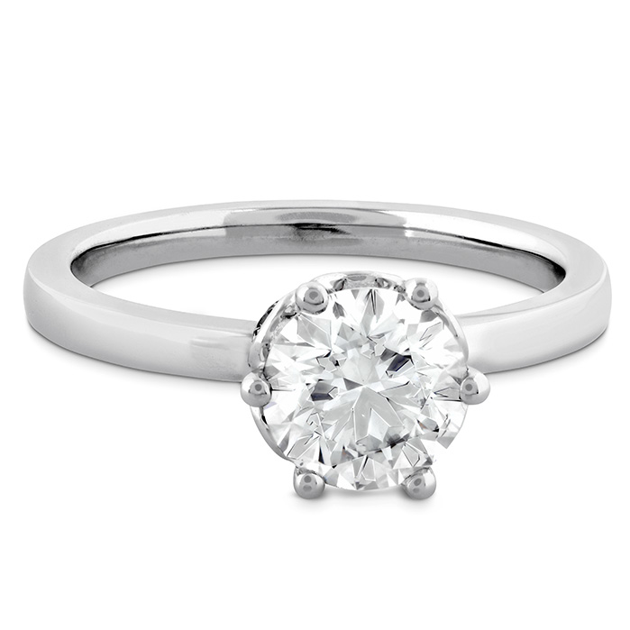 HOF Signature Bezel Basket Engagement Ring